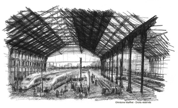 Parisaucrayon pr sente les dessins d 39 antoine maiffret page 2 - Gare de lyon jardin des plantes ...